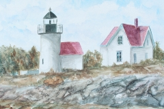 curtis lighthouse watercolor painting