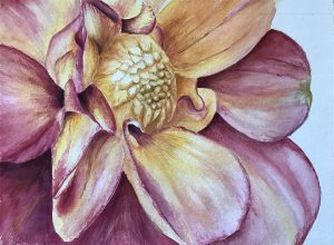 Larger than life watercolor painting